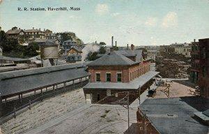 LPS79 Haverhill Massachusetts Railroad Depot Train Station Vintage Postcard