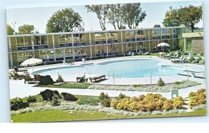 *Holiday Inn Hotel Pool Twin Falls Idaho Highway 93 Vintage Postcard A18