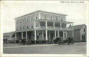 Mars Hill ME Shaw Hotel & Old Cars c1920 Postcard