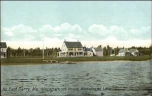 Northeast Carry ME Winnegarnock House Moosehead Lake c1910 Postcard