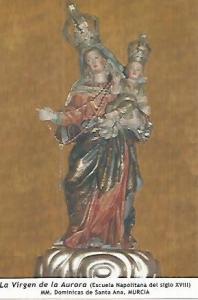 POSTAL 54038: Virgen de la Aurora. Murcia