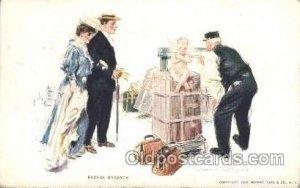 Artist Signed Howard Chandler Christy, Excess Baggage 1908 crease left bottom...