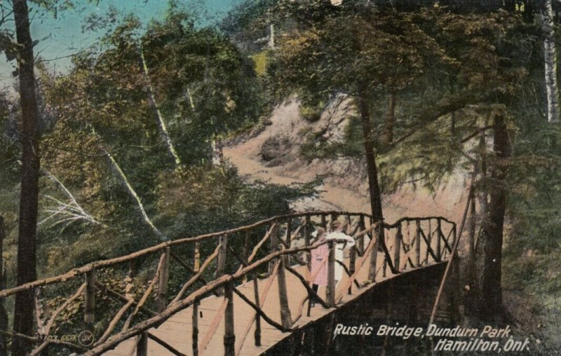 HAMILTON , Ontario , Canada , 1913 ; Rustic Bridge, Dundurn Park