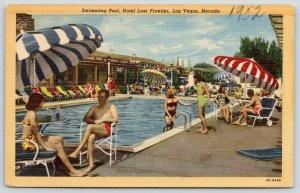 Las Vegas Nevada~Hotel Last Frontier Swimming Pool~Bathing Beauties~1950 Linen