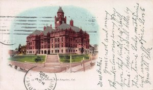 Court House, Los Angeles, California, Private Mailing Card, Used in 1905