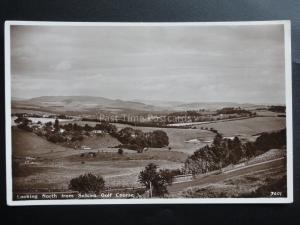 Scotland: Looking North from SELKIRK Golf Course, Old RP PC by A.R.Edwards & Son