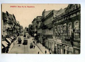 190732 PORTUGAL PORTO Rua Sa da Bandera TRAMS Vintage postcard