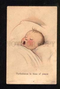 049641 Sleeping Baby by TWELVETREES Vintage PC #45