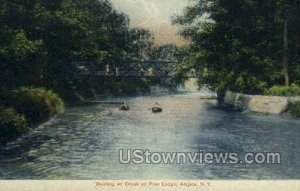 Boating on Creek at Pine Lodge in Angola, New York