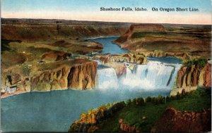 Old Vintage Postcard of ShoShone Falls Idaho ID - COLOR