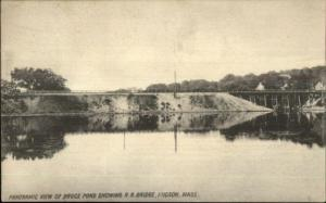 Hudson MA Bruce Pond c1910 Postcard