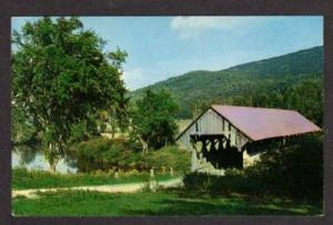 ME Bennett Covered Bridge WILSON'S MILLS MAINE Postcard