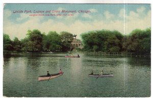Chicago, Lincoln Park, Lagoon and Grant Monument