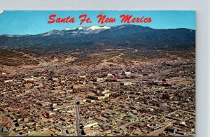 New Mexico Santa Fe Aerial View 1969