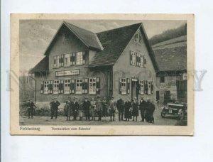 3171981 GERMANY FICHTENBERG Station & restaurant CAR Vintage PC