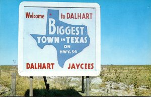 TYexas Dalhart Welcome Sign