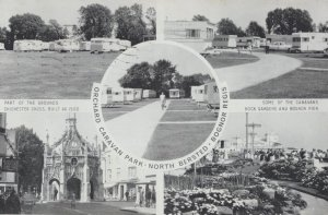 Orchard Centre Caravan Park Bognor Regis Welsh Vintage Postcard