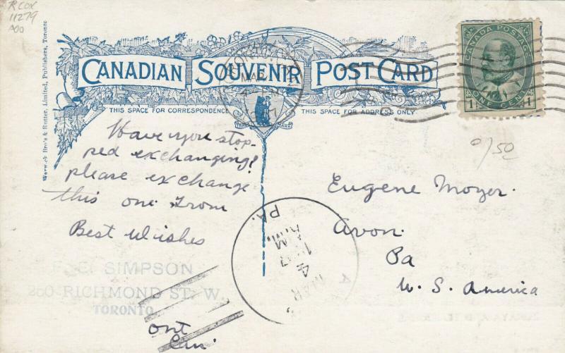 TORONTO, Ontario , 1906 ; Sailboat Race ; Zoraya & Temeraire