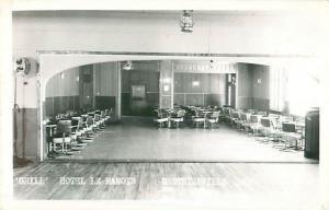Postcard Berthierville Quebec Hotel le Manoir Interior View of Grill 1950s RPPC