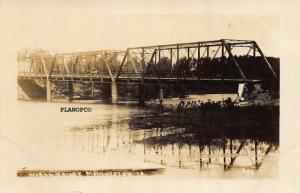 MANCHESTER, IOWA WAGON BRIDGE-EARLY 1900'S RPPC REAL PHOTO POSTCARD