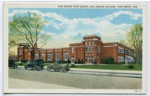 Senior High School Junior College Fort Smith Arkansas postcard