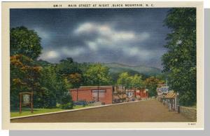 Striking Black Mountain, NC Postcard,Main Street, Near Mint!