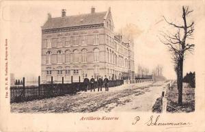 Netherlands Artillerie Kazerne Military Barracks Antique Postcard J55525