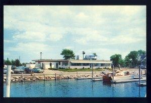 Wickford, Rhode Island/RI Postcard, Wickford Marina House Restaurant