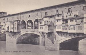 FIRENZE, Toscana, Italy, 1900-1910's; Dettaglio Del Ponte Vecchio