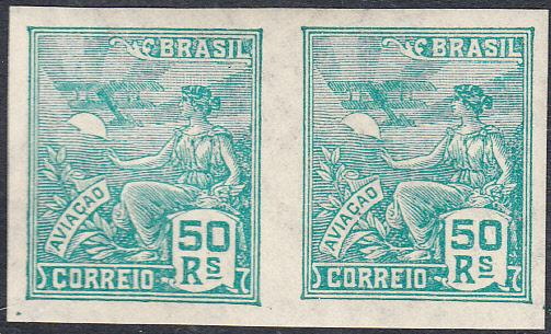 Brazil  #330 MNH Imperforate Pair