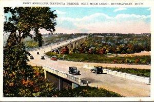 Minnesota Minneapolis Fort Snelling Mendota Bridge One Mile Long