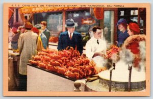 San Francisco CA~Men in Suits*~Alioto's @ Fisherman's Wharf~Crab Pots~1940s