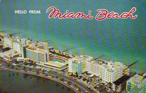 Florida Miami Beach Hello From Miami Beach 1988