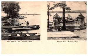 Massachusetts    Webster Lake ,  Beacon Park Band Stand and  Navy Yard