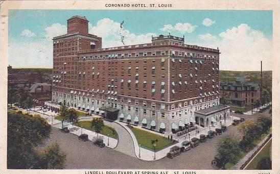 Missouri Saint Louis Coronado Hotel 1926