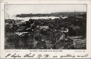 Annapolis MD View from State House Dome c1905 Feldmeyer Postcard G58
