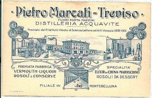 CARTOLINA d'Epoca - TREVISO Città: PUBBLICITARIA 1912