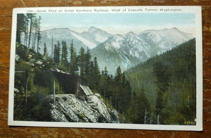 R.P.O. Cancelled Post Card Spokane Wash. 1938