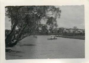 Real photo 9x6cm Cook River scene at Sydney Australia