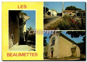 Postcard Modern Beaumettes village Entree L & # 39eglise the castle Total Sta...