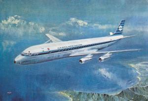 K.L.M. Douglas DC-8 Intercontinental Jet airplane , 60-80s