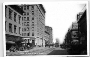 Oakland CA 1912 12th Street and Broadway RPPC Vintage Real Photo Postcard E32