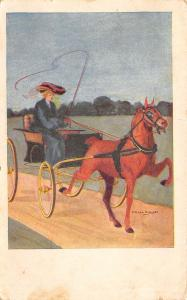 F Earl Christy~Sports Series~Lovely Lady With Whip~Horse & Buggy~Blinders~1908