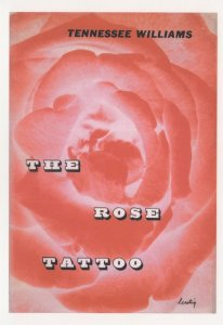 Tennessee Williams The Rose Tattoo 1951 Book Postcard