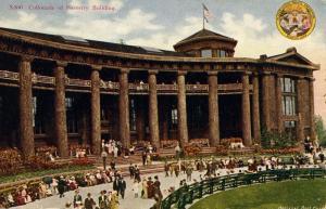 WA - Seattle. 1909 Alaska-Yukon-Pacific Exposition. Collonade of Forestry Bui...