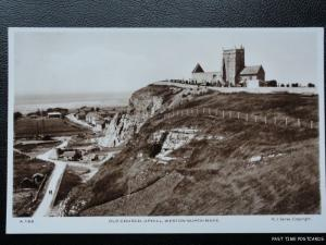 Vintage RPPC, Uphill - Old Church, Weston Super Mare, PART OF CHURCH HAS NO ROOF