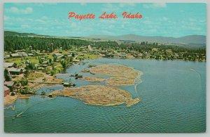 McCall Idaho~Payette Lake Birdseye~c1950 Bill Acker Postcard