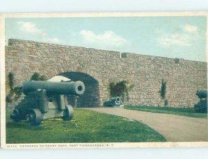 Divided-back MILITARY SCENE Fort Ticonderoga New York NY AF8735