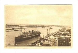 Ocean Liner at Entrance to Suez Canal, Port Said, Egypt, 1910s