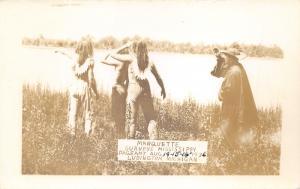 Ludington Michigan~Marquette Surveys Mississippi~Pageant~1936 RPPC